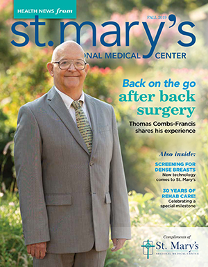 St Mary's Fall 2019 Health News Cover