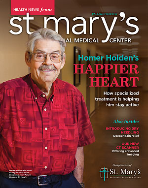 St. Mary's Health News Magazine Fall/Winter 2017 Cover