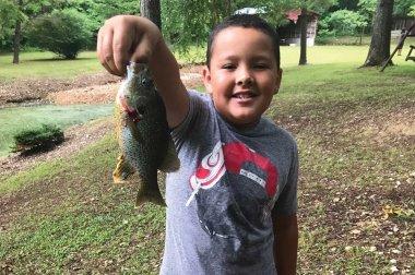 Trae Keyworth with a big catch